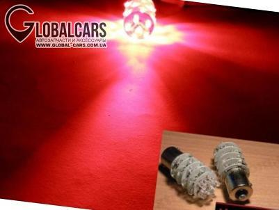 LED ЛАПМОЧКИ BA15S 30XLED КРАСНЫЕ P21W 180' - M49604811, фото 3, цена