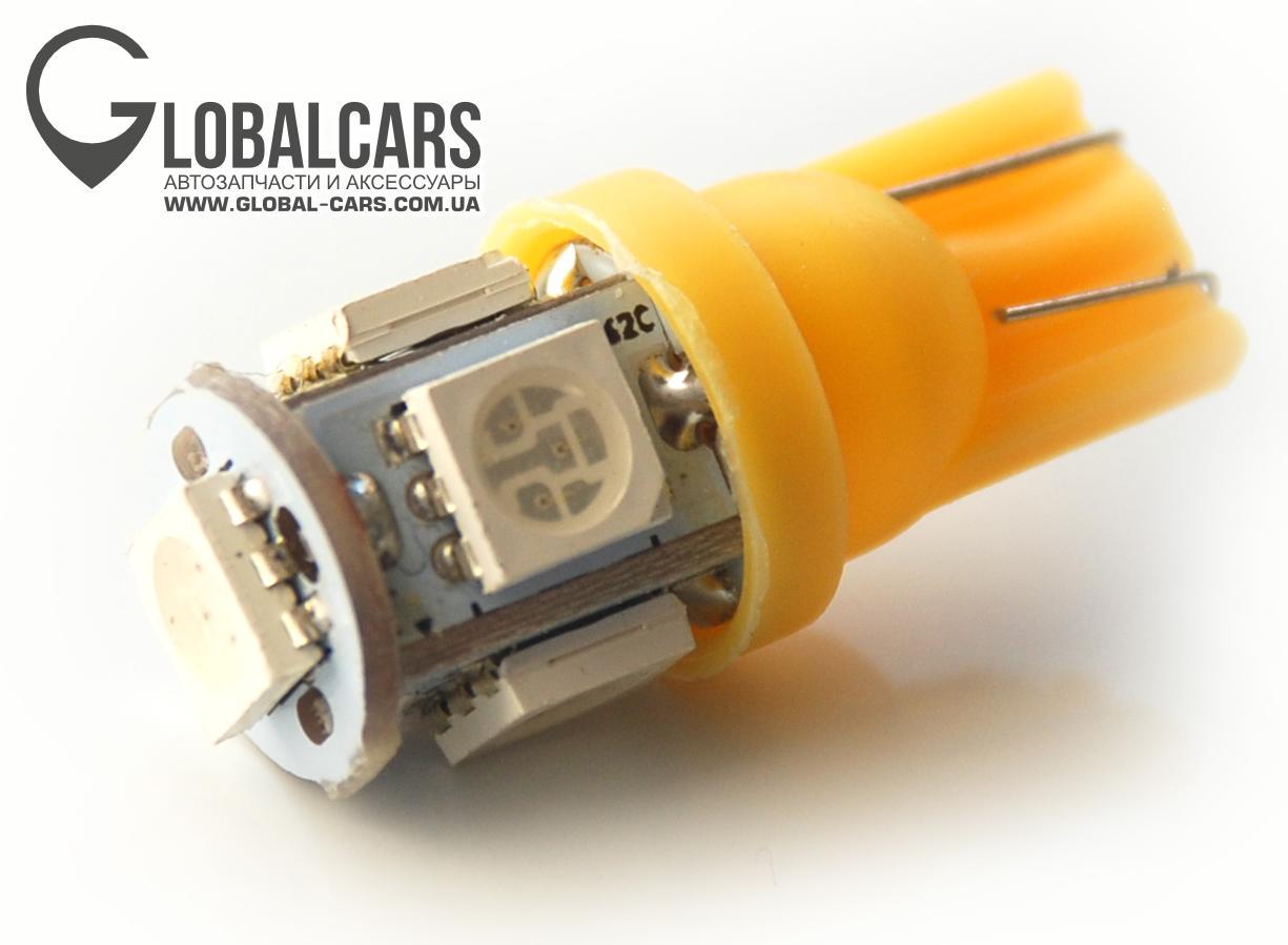 LED T10 W5W 5 X 5050 SMD ОРАНЖЕВОЙ - R4TB0LT11, фото, цена