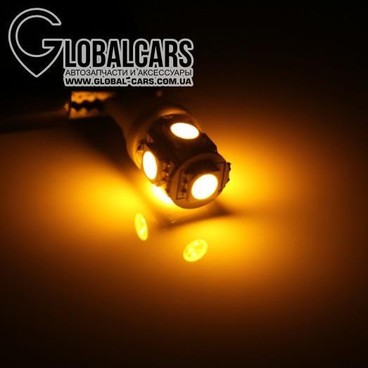 LED T10 W5W 5 X 5050 SMD ОРАНЖЕВОЙ - R4TB0LT11, фото 2, цена