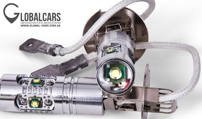 H3 LED ЛАПМОЧКИ ГАЛОГЕНОК 5 CREE XPE БЕЛЫЙ 12V - T94B8K711, фото, цена